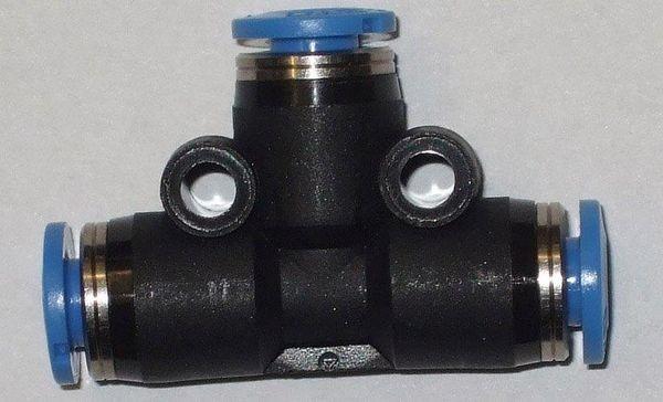 ( LF2) Verbinder, T- Stück, f. Schlauch schwarz 4,00 mm 2866446