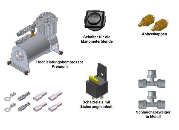 ( LF1) Hochleistungskompressor Premium für Luftfederanlagen, 6,00 mm, 130/5 2875015