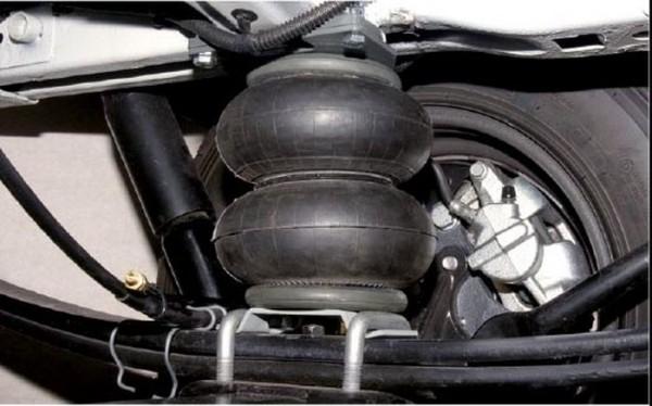 Ford Transit, Heckantrieb mit zwillingsbereift, Baujahr 1990- 1999, Zusatz-Luftfederung 6 Zoll Doppelfaltenbalg- Anlage, syst. LF1 2864528