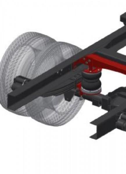 Iveco Daily 35C-50C Bj. 2006-2014, Rahmenhöhe 85mm, Zusatz-Luftfederung 8 Zoll Heavy Zweikreis Faltenbalg- Anlage, syst. LF1 2886089
