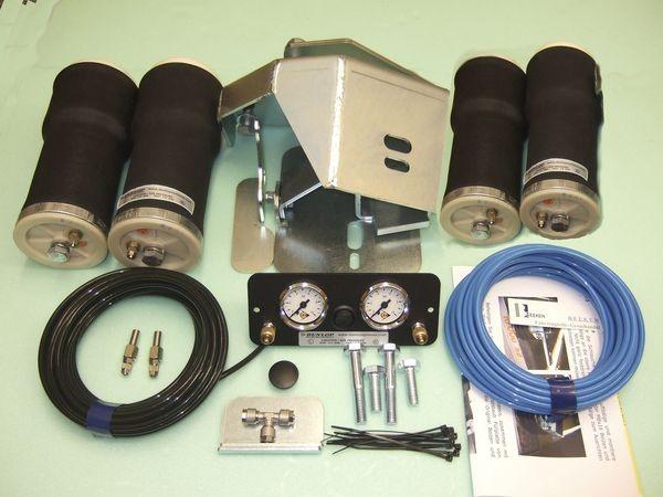 Luftfederung für ALKO ( AL-KO )- Chassis- 2011- Standard Radaufnahme- ohne ALC Level Control, Tandemachse- Breitspur, spez. für auflaufendes Chassis, Zweikreis Zusatz-Luftfederanlage, syst. LF3 288612