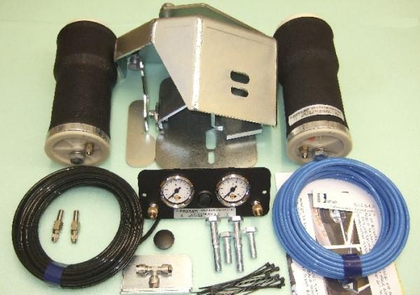 Luftfederung für ALKO ( AL-KO )- Chassis- 2011- Standard Radaufnahme- ohne ALC Level Control, Einzelachse, spez. für auflaufendes Chassis, Zweikreis Zusatz-Luftfederanlage, syst. LF3 2886134