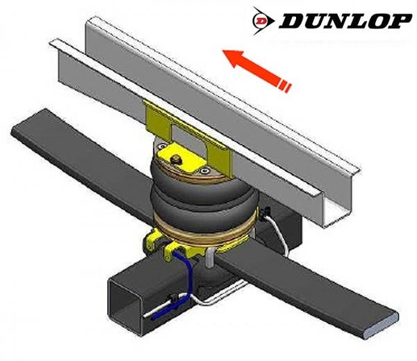 Fiat Ducato Eurochassis 230 (1994-2001), Zusatz-Luftfederung 8 Zoll Zweikreis Doppelfaltenbalg- Anlage, syst. LF3 2865414