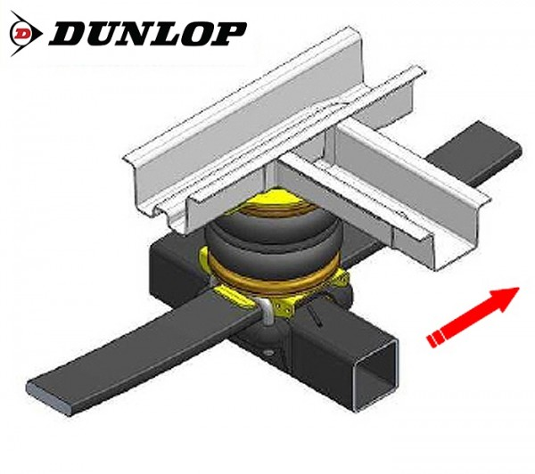 Citroen Jumper Eurochassis X250 (2014-), Zusatz-Luftfederung 8 Zoll Zweikreis Doppelfaltenbalg- Anlage, Dunlop, syst. LF3 2884425