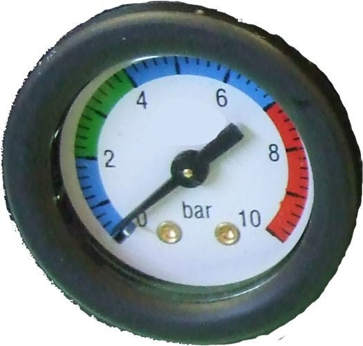Druckluft Manometer, f. Schlauch, 6,00 mm, schwarz, Ersatzmanometer 2874223