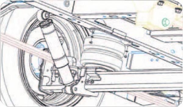 VW Crafter 28-35 Radstand 3665-4325mm, Bj. 2006-2016, Zusatz-Luftfederung 8 Zoll Zweikreis Doppelfaltenbalg- Anlage, Semi Air Komfortset-LCV, syst. LF1 2884465
