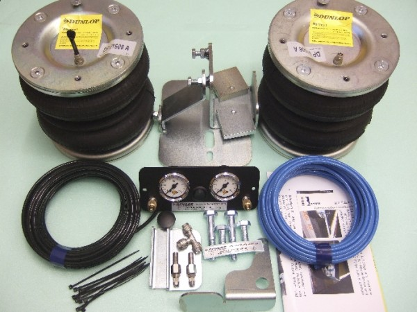 Nissan Interstar Bj. 1998-2010, Zusatz-Luftfederung 8 Zoll Zweikreis Doppelfaltenbalg- Anlage, syst. LF3 2874130