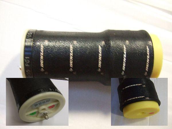 ( LF2) Ersatz- Luftbalg ( Luftfederbalg ) Contitech SZ55-20 mit Anschlußstück, f. Schlauch schwarz 4,00 mm 2866416