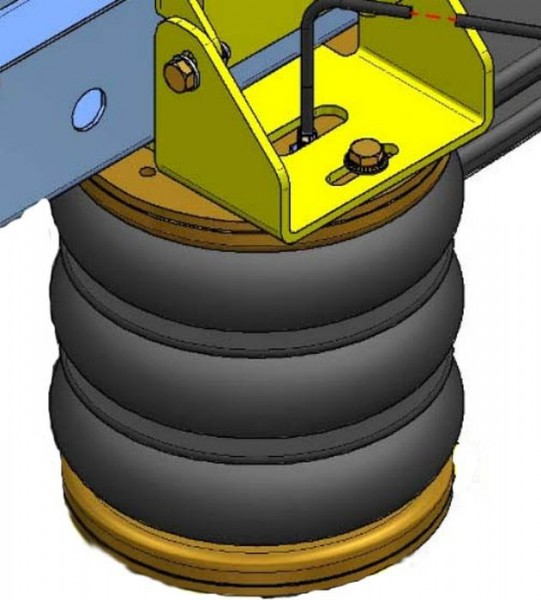 ( LF3) Ersatz- Luftbalg ( Luftfederbalg ) Dunlop 77003141XX (Iveco- Ford Hinterachse) 2876497