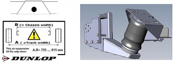 ALKO ( AL-KO )- Chassis- 2007-2011 Standard Radaufnahme