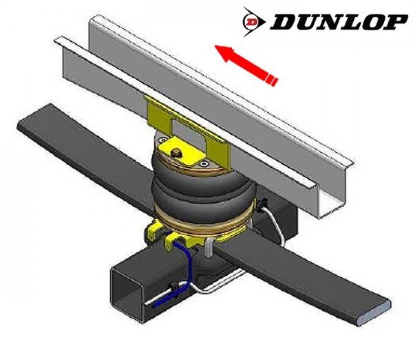 Peugeot Boxer Eurochassis 244 (2002-2005), Zusatz-Luftfederung 8 Zoll Zweikreis Doppelfaltenbalg- Anlage Dunlop, syst. LF3 2865404
