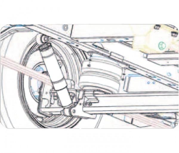 Hyundai H350 2014-, Zusatz-Luftfederung 8 Zoll Zweikreis Doppelfaltenbalg- Anlage, Semi Air Komfortset-LCV, syst. LF1 2884606