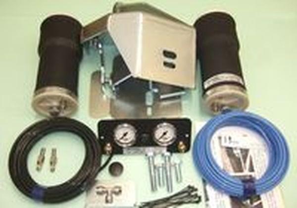 Luftfederung für ALKO ( AL-KO )- Chassis- 2011- Standard Radaufnahme- ohne ALC Level Control, Einzelachse- Breitspur, spez. für auflaufendes Chassis, Zweikreis Zusatz-Luftfederanlage, syst. LF3, inkl